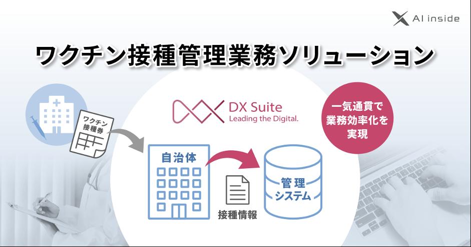 AI inside、自治体のワクチン接種管理業務を効率化するAI-OCR「DX Suite」を活用したソリューションを提供開始
