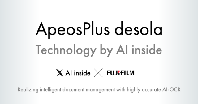 AI inside Provides Technology for FUJIFILM Business Innovation's New Cloud Service